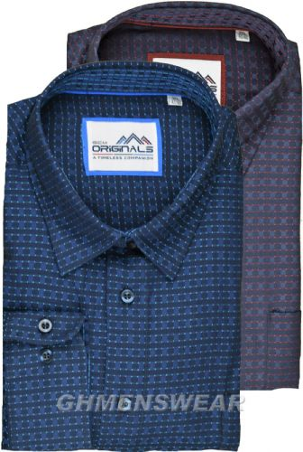 GCM Long Sleeved Cotton Fashion Shirt - Connor